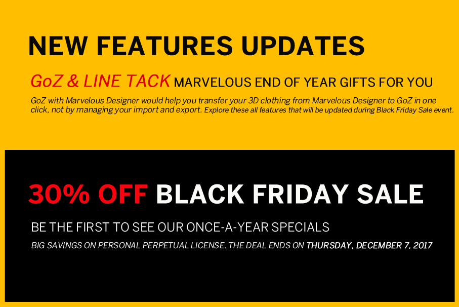 Black friday _ Discount offer with New features _ By Marvelous Designer Black friday Black friday,Discount offer