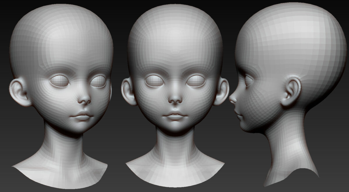 Free Young Stylized Girl Head_By Danny Hensley Free Young Stylized Girl Head Free Young Stylized Girl Head,Danny Hensley