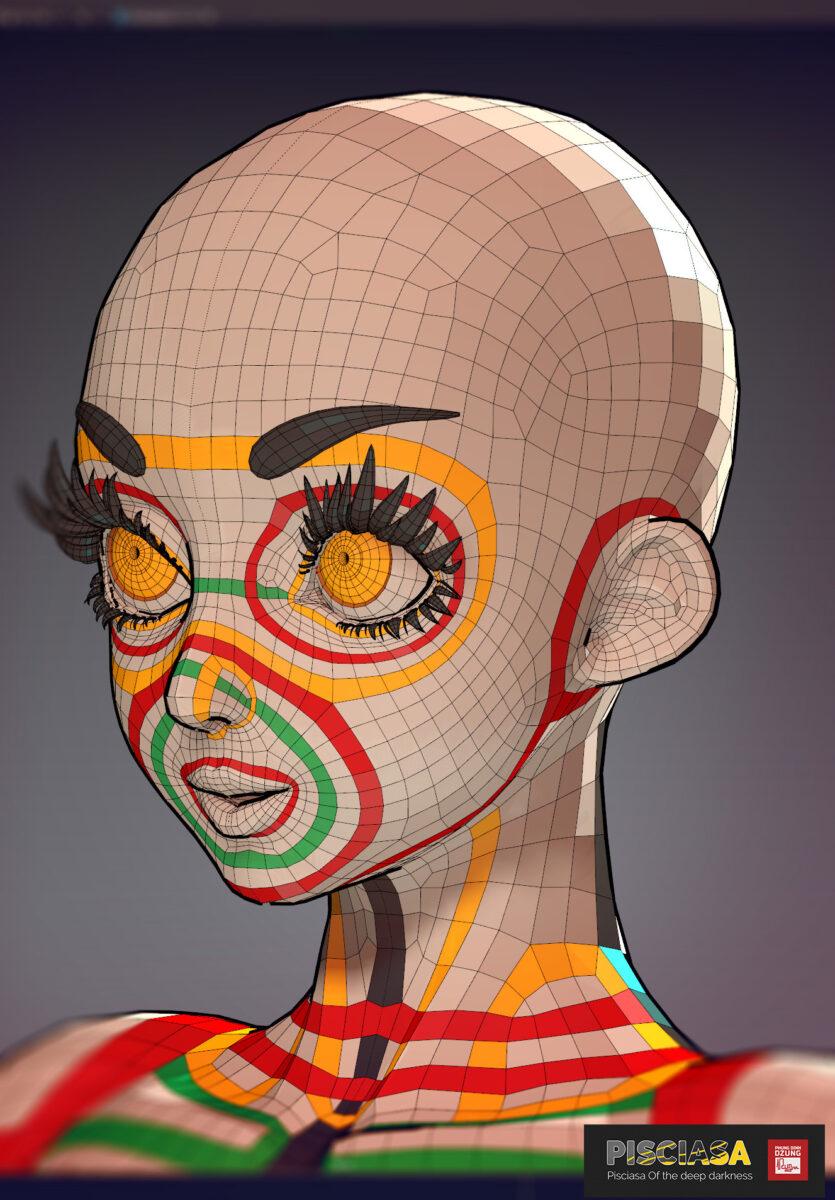 Pisciasa (3d model) - Base mesh _ By Dzung Phung Dinh Base mesh Base mesh,Pisciasa,3d model