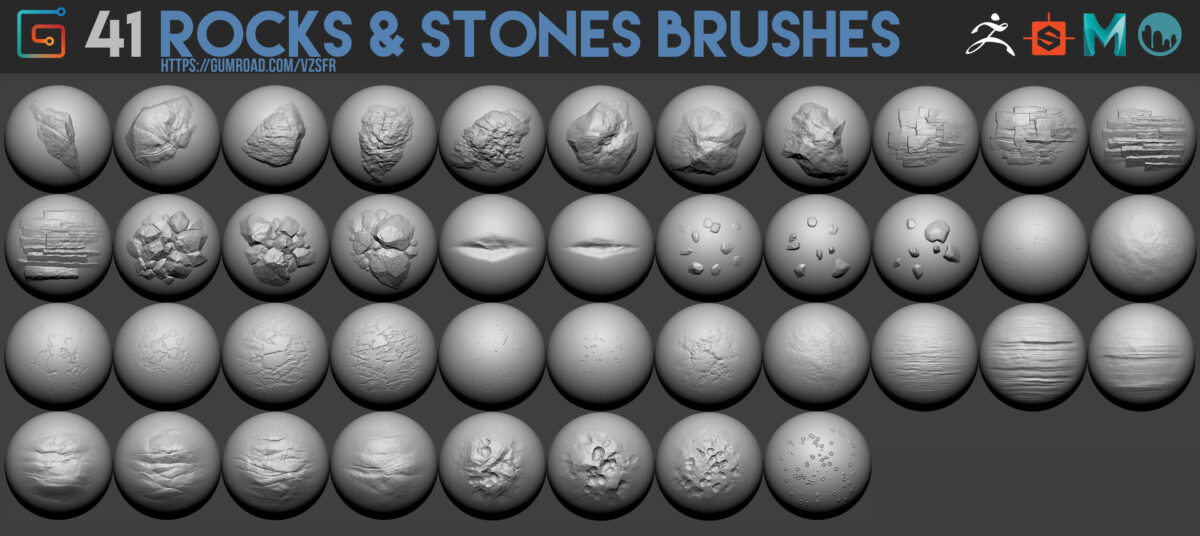 41 Rocks & stones brushes stones brushes stones brushes