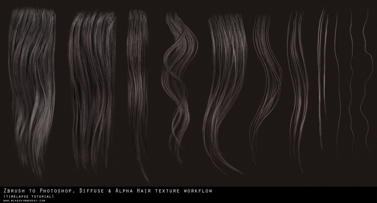 How to make Hair Texture Diffuse & Alpha - Tutorial by Mike svymbersky Texture Texture,How to make alpha,Mike svymbersky