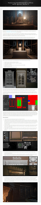 Texturing Dumbledore's office with Quixel Suite 2 - breakdown By Ognyan Zahariev Dumbledore Dumbledore,Quixel Suite