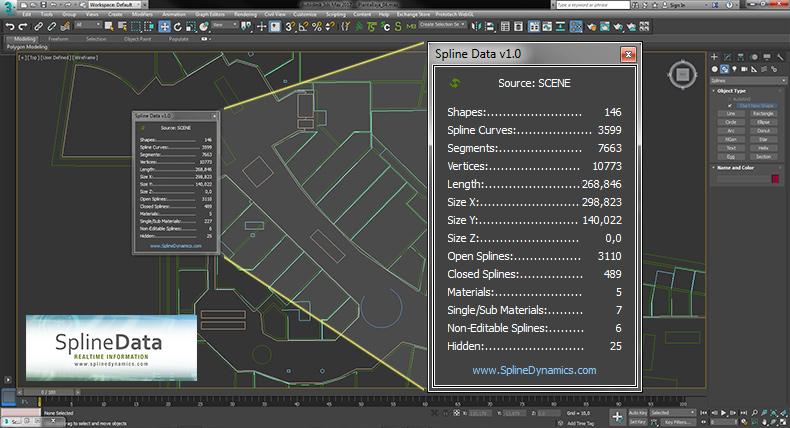 Spline Data for 3ds Max 2012 or higher 3ds Max 2012 3ds Max 2012,Spline Data