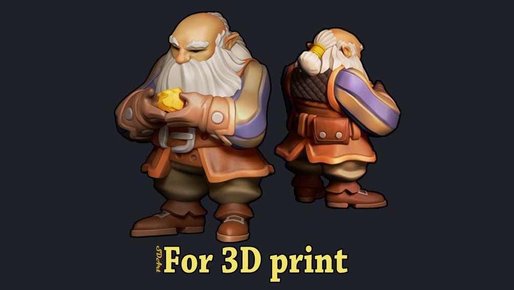 3d Print model _ Dwarf 3d Print model 3d Print model,Dwarf