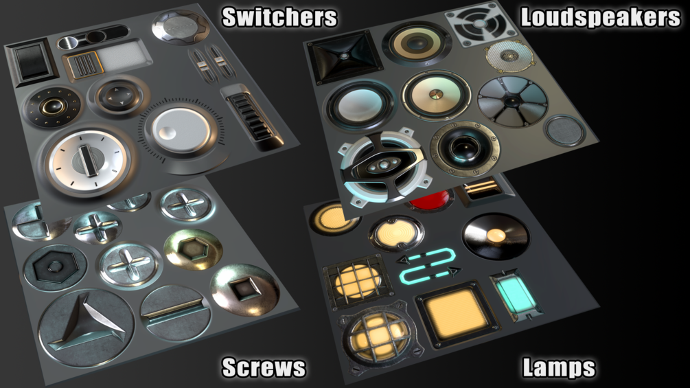 SP Electronics Stamps _ By CG Ammo(Substance painter) Electronics Stamps Electronics Stamps,CG Ammo