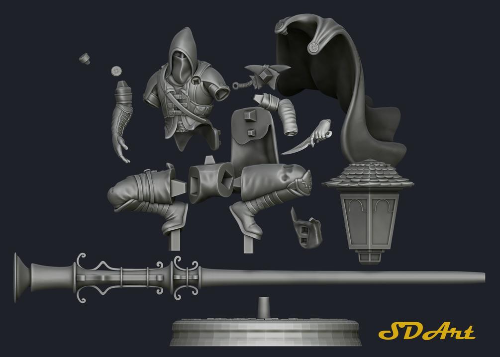 3D print model_Thief - Runko SuperUltra thief 3D print model_Thief 3D print model_Thief,Runko SuperUltra thief