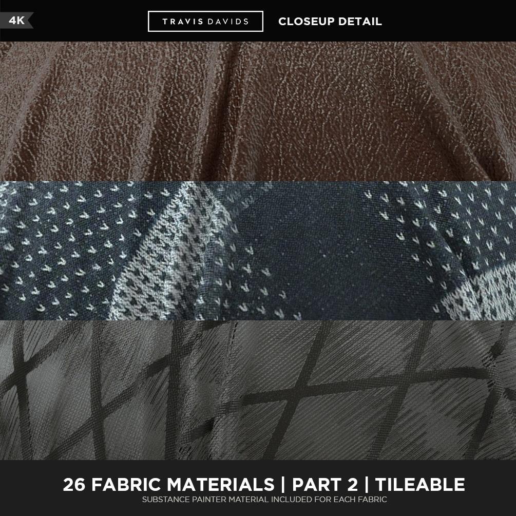 26 Fabric Materials Part 2 - 4K - Tileable_Substance painter 26 Fabric Materials Part 2 26 Fabric Materials Part 2,Substance painter