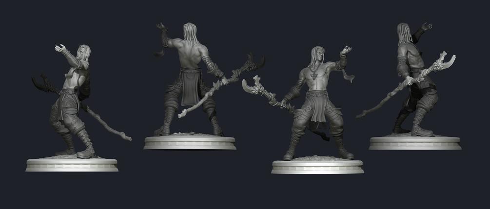 3d print model_Druid - Marlock 3d print model 3d print model,Marlock