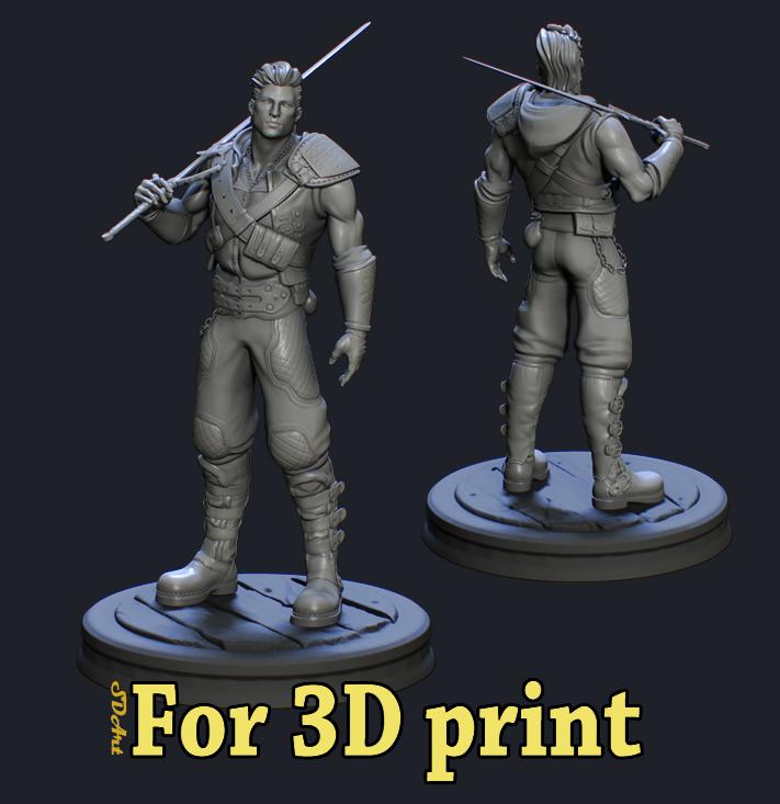 3d print model _ Warrior - Pablo SuperUltra Warrior 3d print model 3d print model