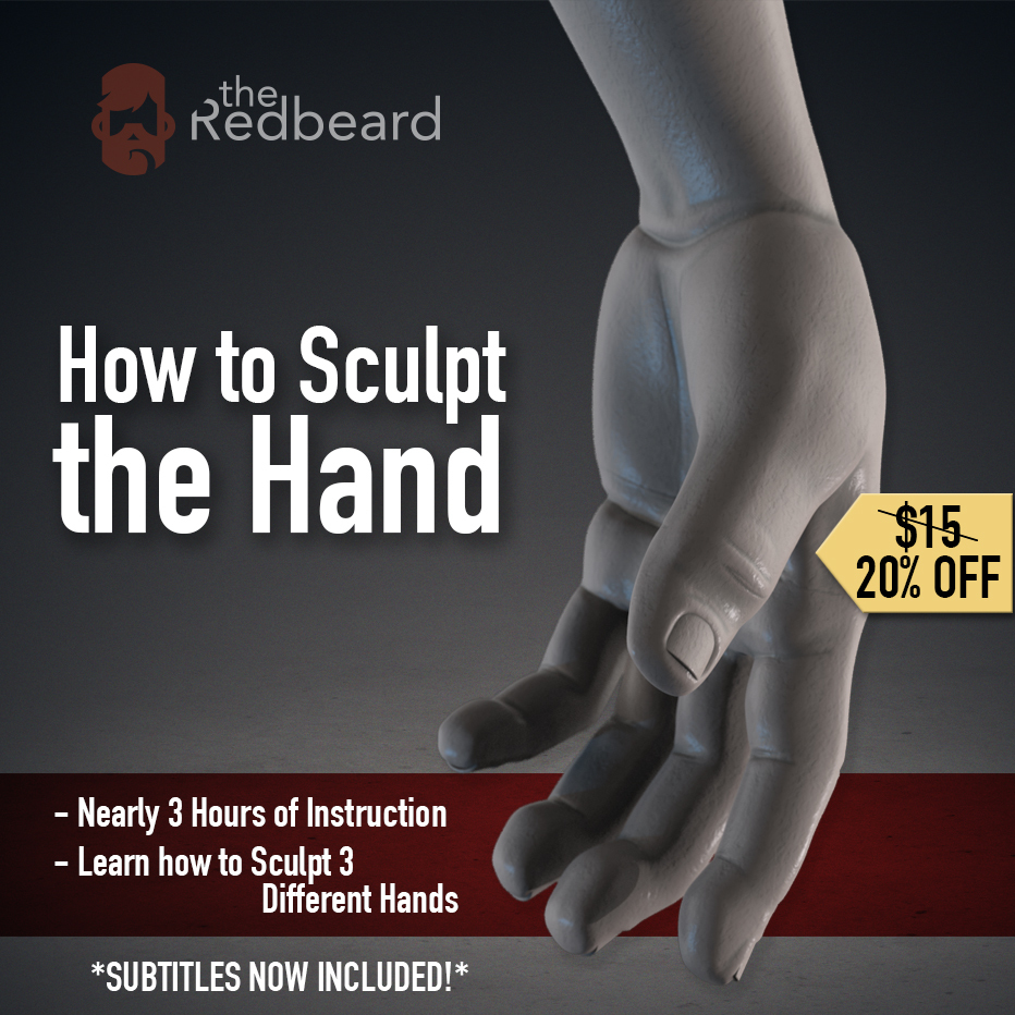 How to Sculpt the Hand _ By the Red Beard How to Sculpt the Hand How to Sculpt the Hand,Red Beard