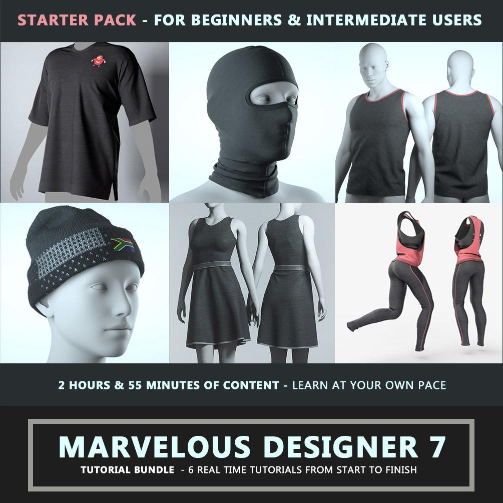 Marvelous Designer 7 Tutorial STARTER PACK Marvelous Designer Marvelous Designer