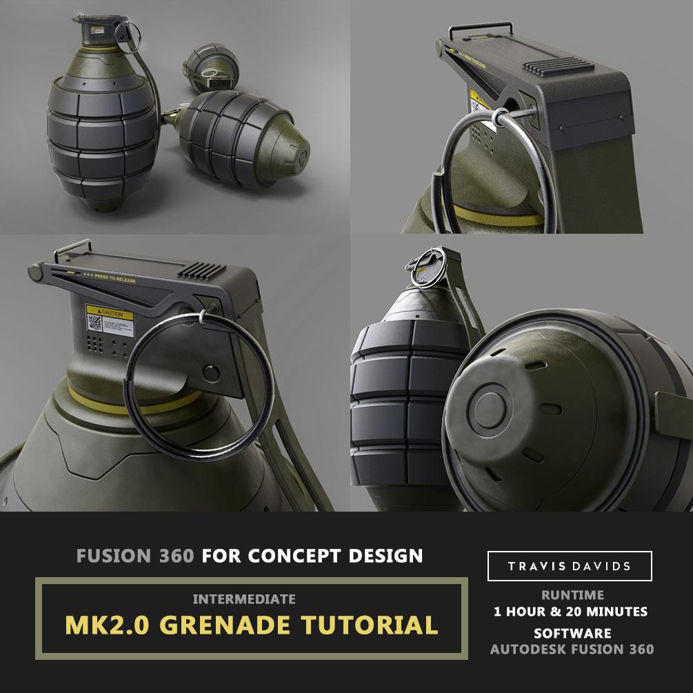 Fusion 360 For Concept Design - MK2.0 Grenade Tutorial _ BY Travis Davids Fusion 360 For Concept Design Fusion 360 For Concept Design