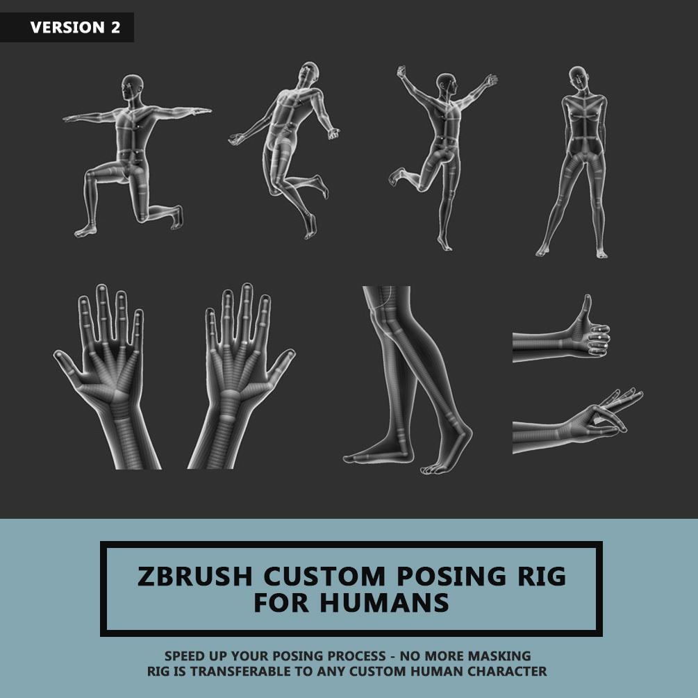 Zbrush Custom Posing Rig Tool For Humans Version 2 _ By Travis Davids Zbrush Custom Posing Rig Tool Zbrush Custom Posing Rig Tool,Humans