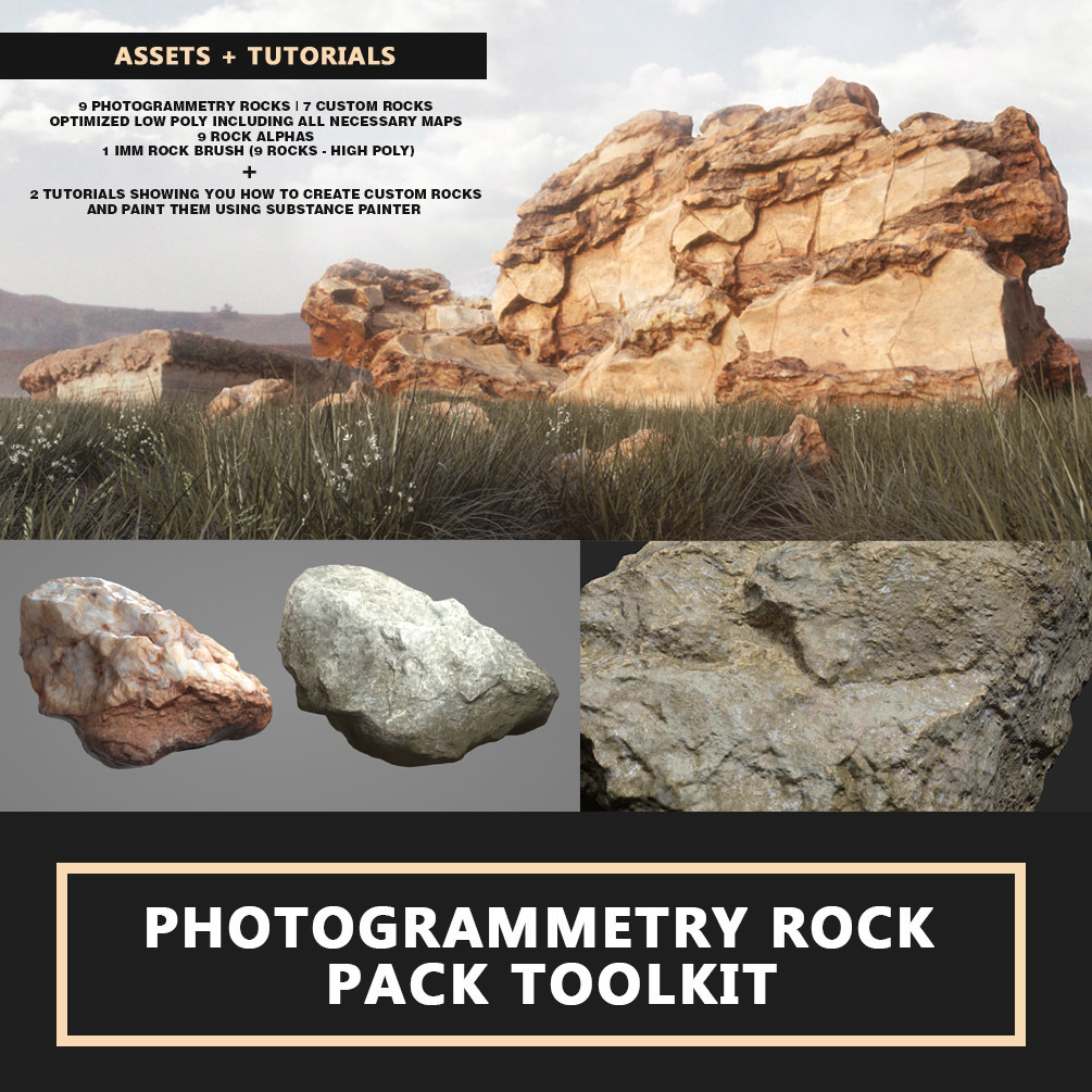 Photogrammetry Rock Pack TOOLKIT _ DOWNLOADS_ BY Travis Davids Photogrammetry Rock Pack TOOLKIT Photogrammetry Rock Pack TOOLKIT