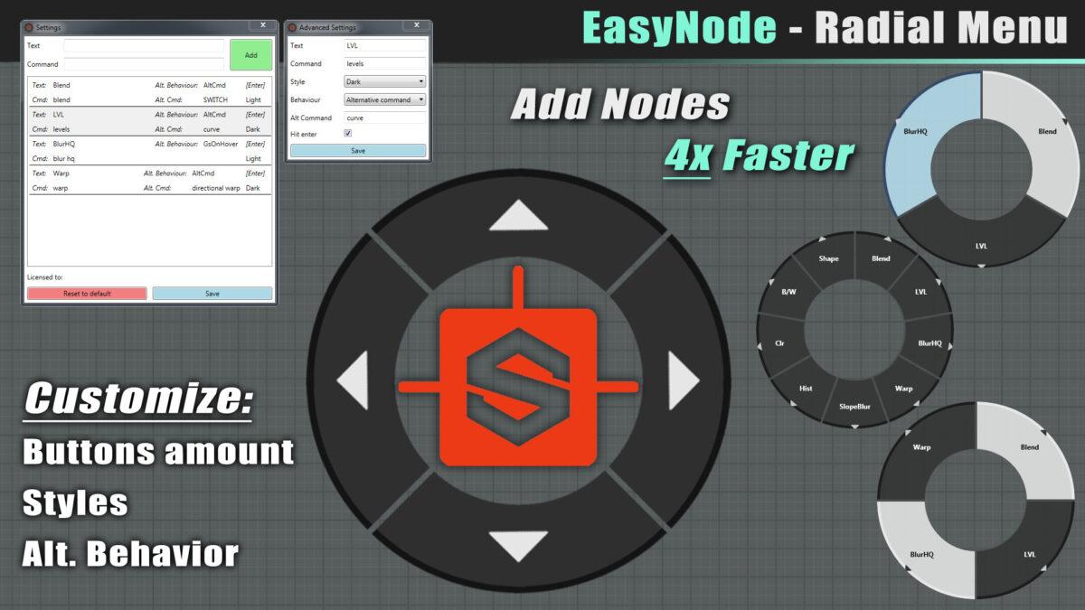 EasyNode - Radial Menu for Substance Designer Radial Menu for Substance Designer Radial Menu for Substance Designer,EasyNode