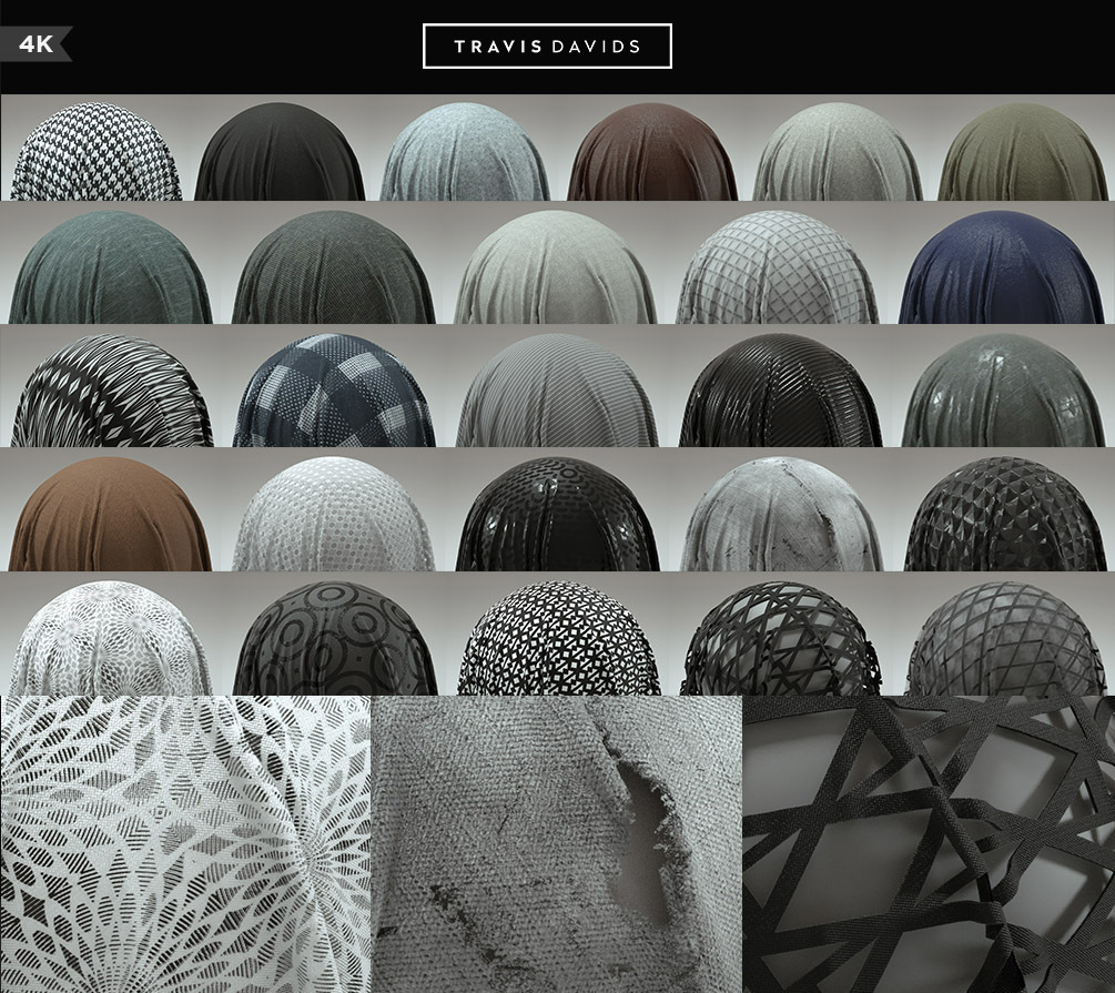 56 Fabric Materials - COMPLETE PACK - 4K - Tileable _ SUBSTANCE PAINTER _ BY Travis Davids COMPLETE PACK COMPLETE PACK,SUBSTANCE PAINTER