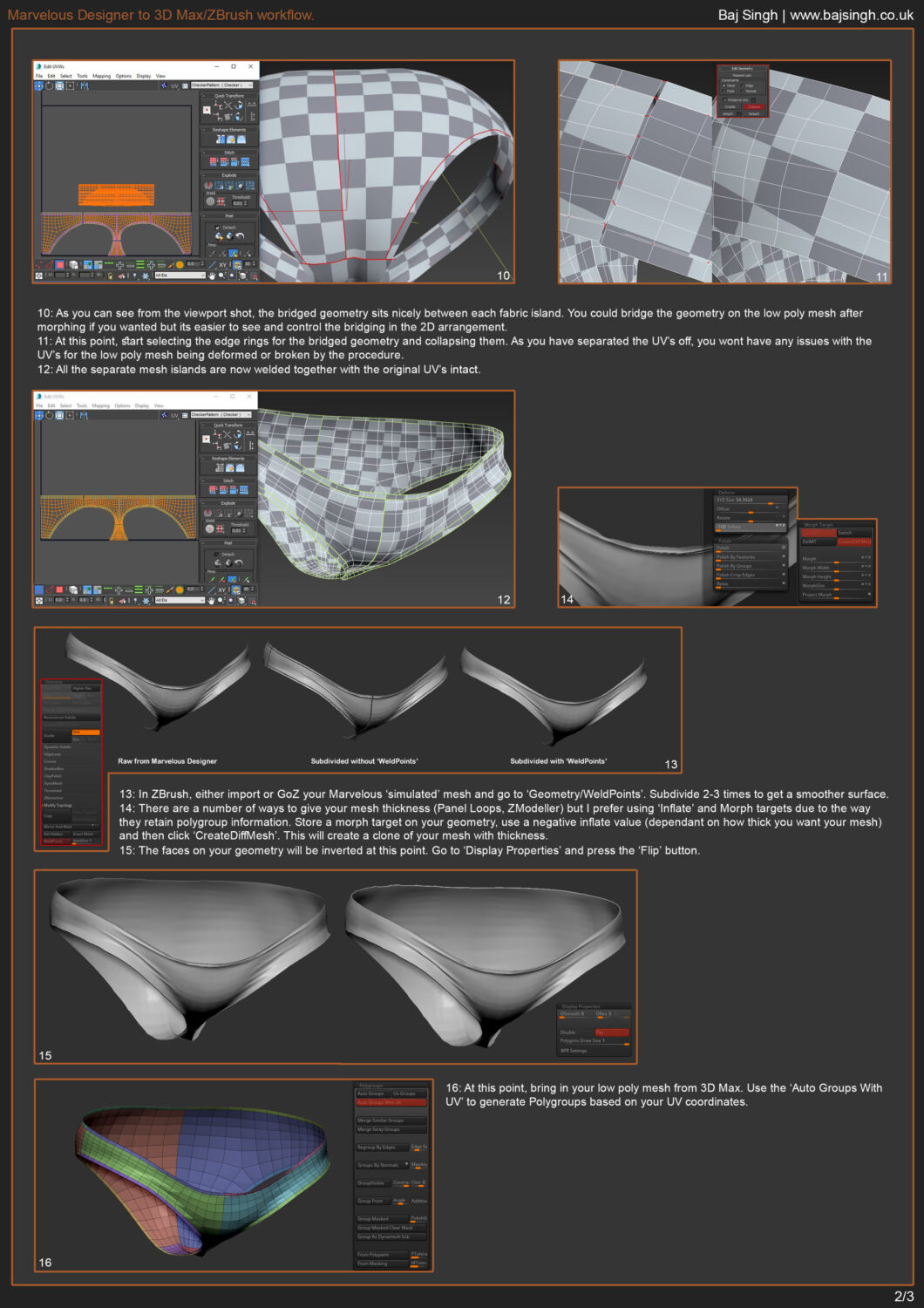Marvelous Designer to 3D Max/ZBrush workflow _ By Baj Singh Marvelous Designer Marvelous Designer,3D Max