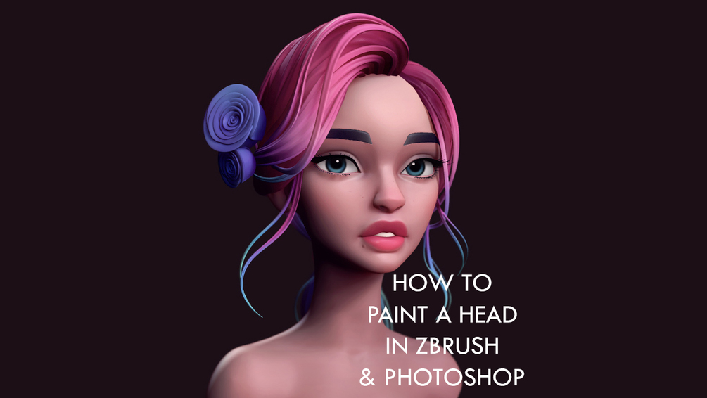 How to Paint the Head using Zbrush and Photoshop _ By Danny Mac How to Paint the Head using Zbrush How to Paint the Head using Zbrush,Danny Mac,Photoshop,Polypaint