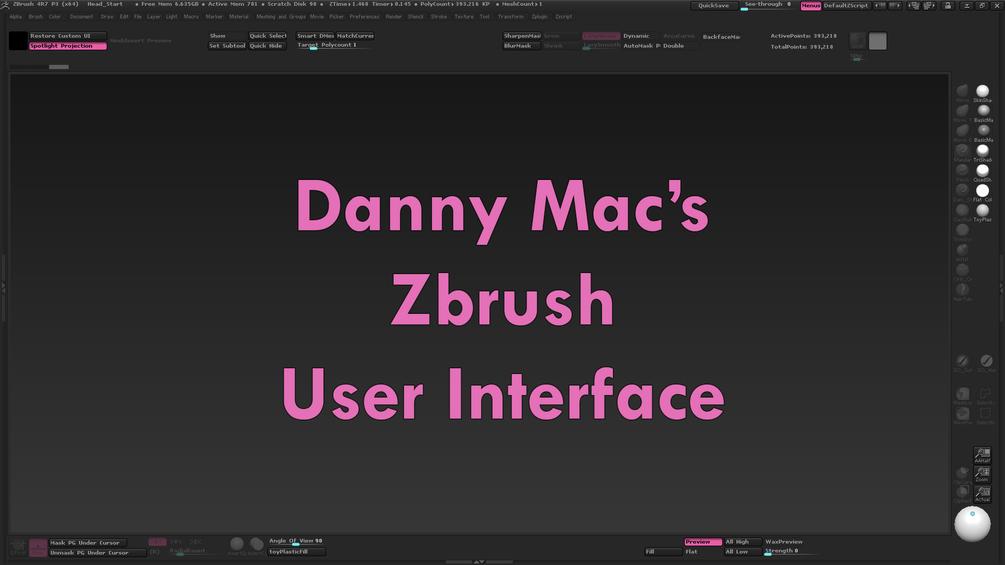 Danny Mac Zbrush UI Danny Mac Danny Mac,Zbrush UI