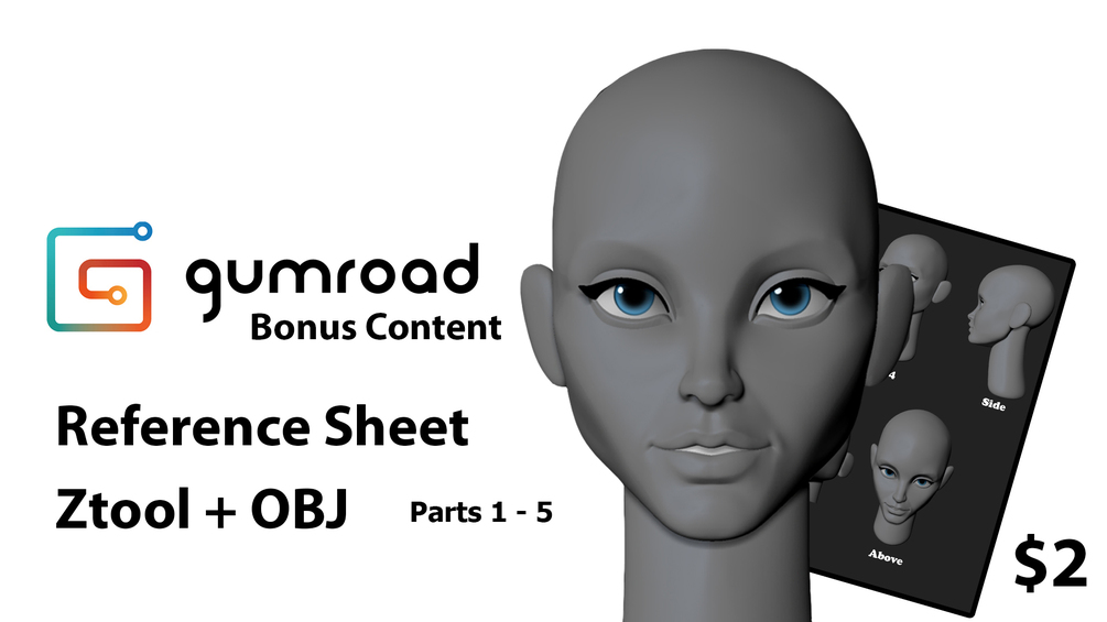 How to sculpt a stylized head Parts 1-5 Pack _ By Danny Mac stylized stylized,head,sculpt