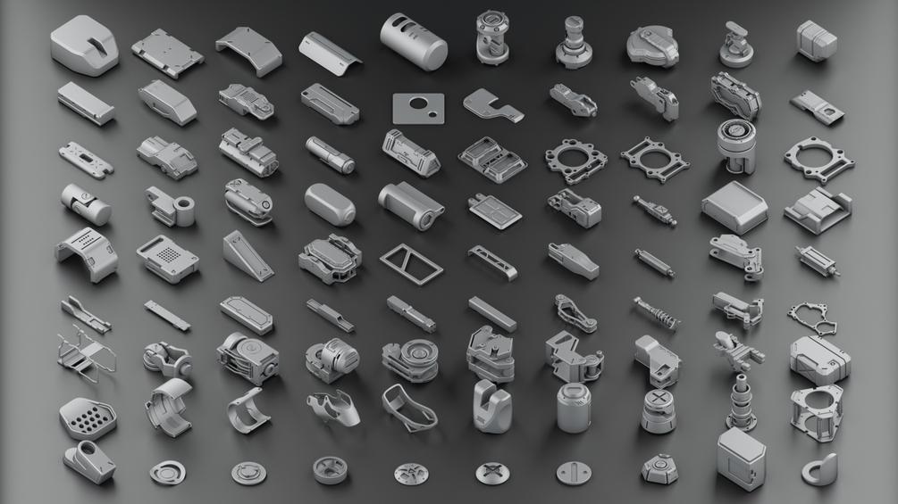 Hard Surface KitBash Vol 2 _ by Oleg Hard Surface KitBash Vol 2 Hard Surface KitBash Vol 2,Oleg