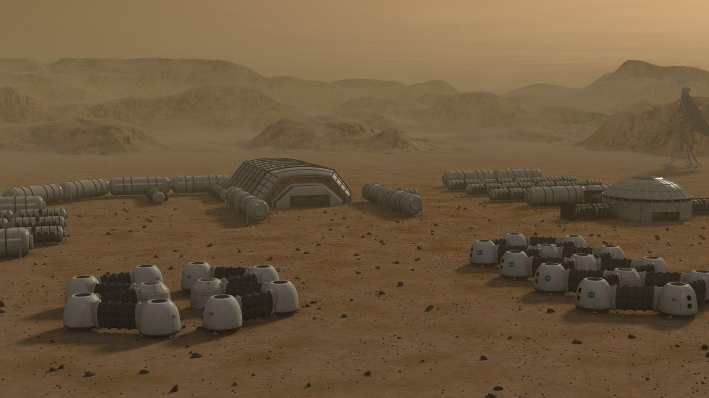 Mars City Colony (CHEAPER)_ High detail 3d model for sale Mars City Colony Mars City Colony,High detail,3d model