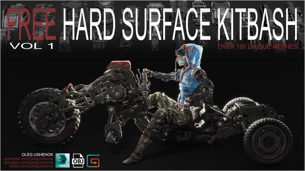 FREE Hard Surface Kitbash Vol 1 _ By Oleg FREE Hard Surface Kitbash Vol 1 FREE Hard Surface Kitbash Vol 1,Oleg