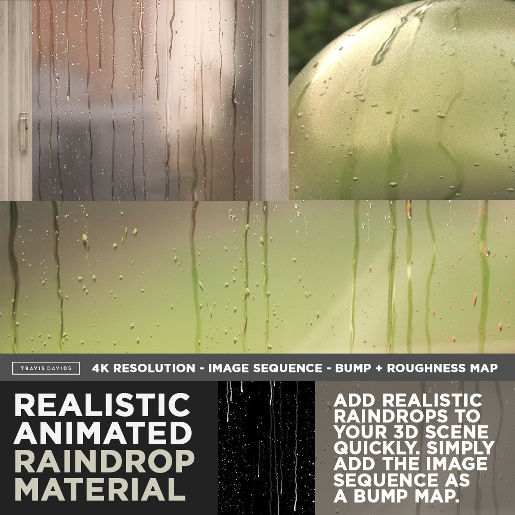 Realistic Animated Raindrop Material _ By Travis Davids Realistic Animated Raindrop Material Realistic Animated Raindrop Material,Travis Davids