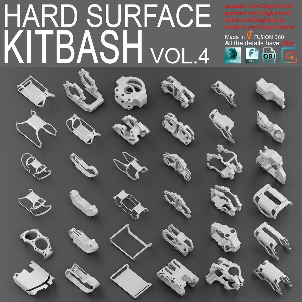 Hard Surface KitBash Vol 4 _ By Oleg Hard Surface KitBash Vol 4 Hard Surface KitBash Vol 4,Oleg