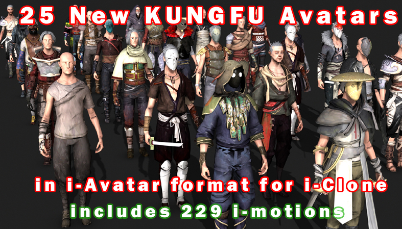 """New Free """"ABSOLVER"""" KUNG-FU Models and Animations for i-Clone _ By Truebones Animations for i-Clone Animations for i-Clone,KUNG-FU Models"""