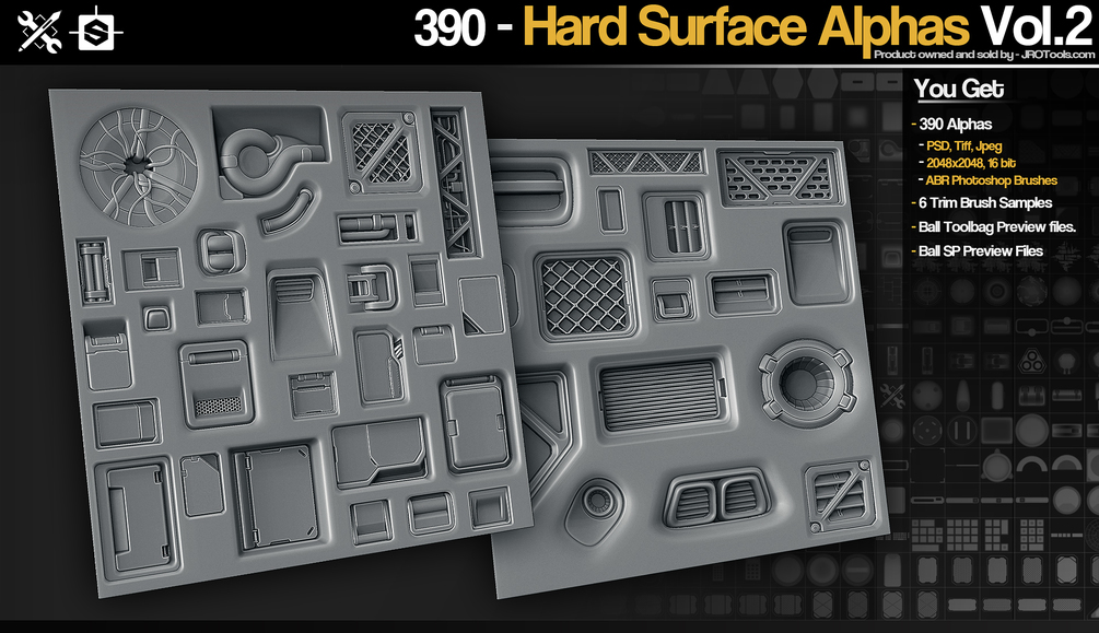 SP/ZBrush 390 Hardsurface Height/Alpha Vol 2 _ JRO TOOLS Hardsurface Height Hardsurface Height,Alpha Vol 2,JRO TOOLS