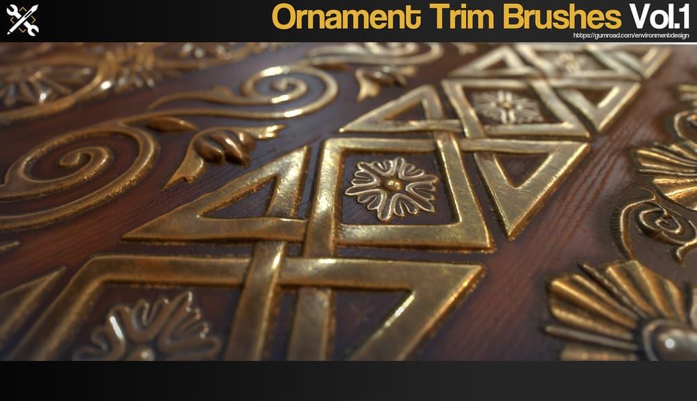 ZBrush - 60 Ornament Trim Brushes Vol.1 _ JRO TOOLS Ornament Trim Brushes Ornament Trim Brushes,JRO TOOLS
