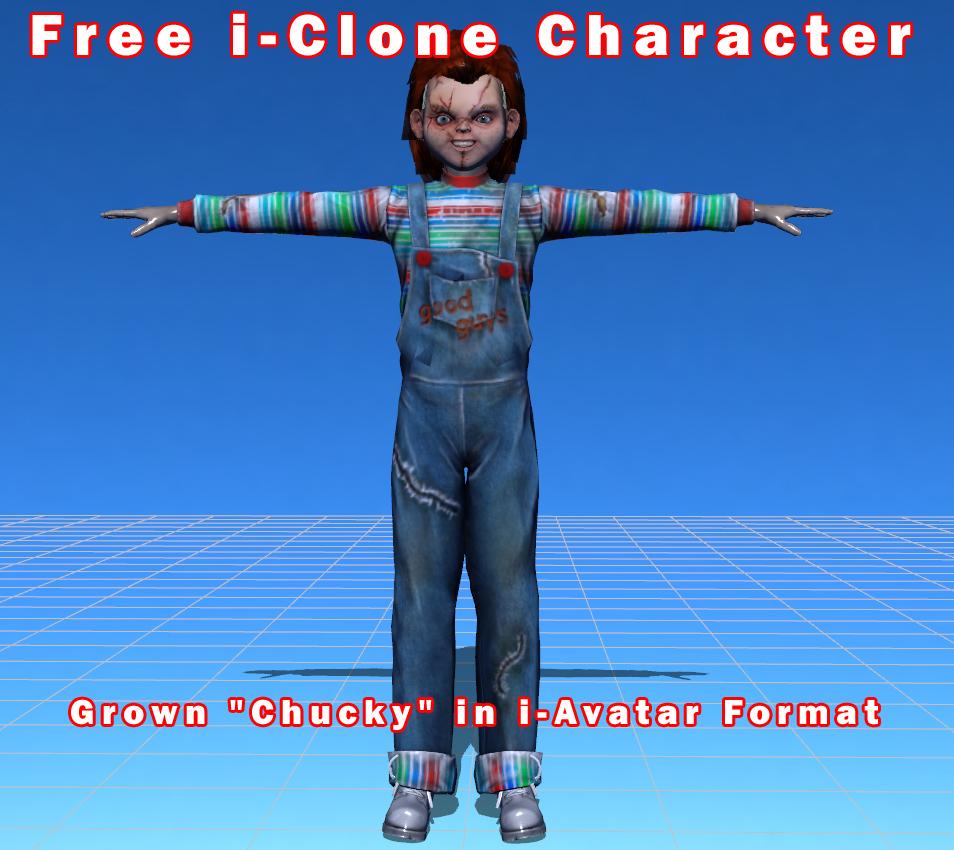 NEW FREE CHUCKY i-AVATAR for i-CLONE _ By Truebones CHUCKY i-AVATAR for i-CLONE CHUCKY i-AVATAR for i-CLONE