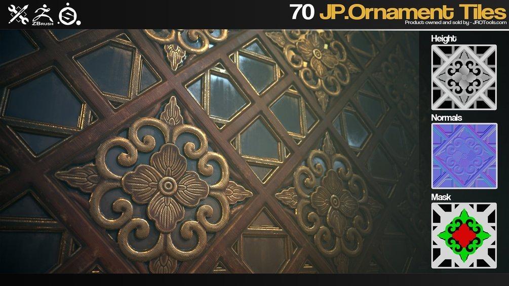 ZBrush/SP - 70 JP.Ornament Tiles _ By JROTools Ornament Tiles Ornament Tiles,JROTools