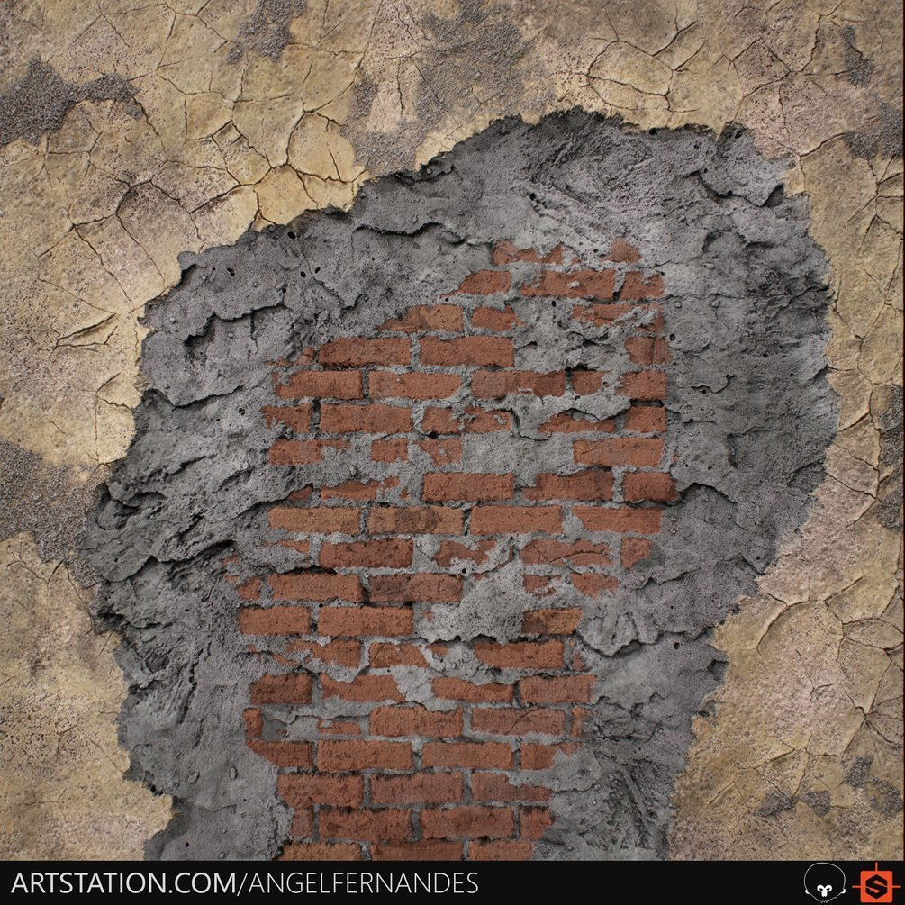 Material Blending - Brick Wall By Angel Fernandes Material Blending Material Blending,Brick Wall