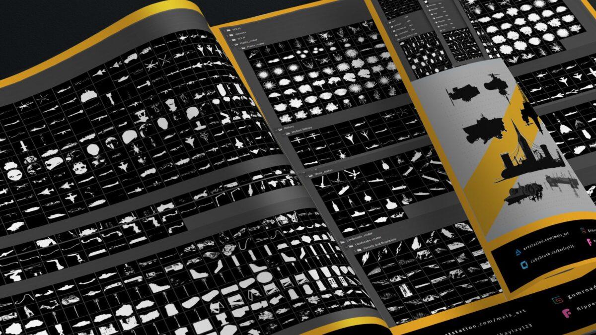 2100 + Custom shapes + 1000+ Cheat brushes Mega pack for Concept art_ By mels.mneyan Mega pack for Concept art Mega pack for Concept art,Cheat brushes