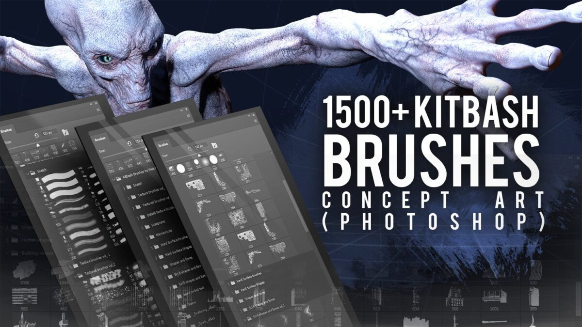 Kitbash brushes for Concept art (by Mels Mneyan) Kitbash brushes Kitbash brushes