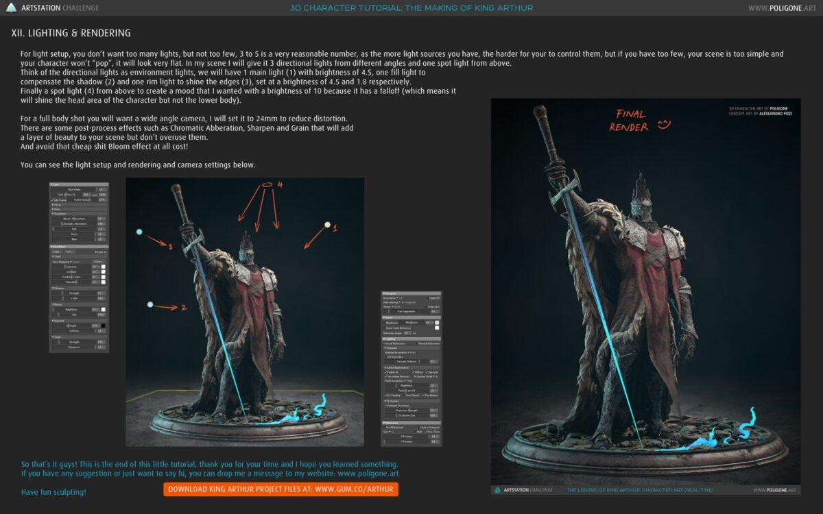 The Making of King Arthur - A 3D Character Tutorial_By Poligone The Making of King Arthur The Making of King Arthur,3D Character Tutorial,3d character tutorial maya