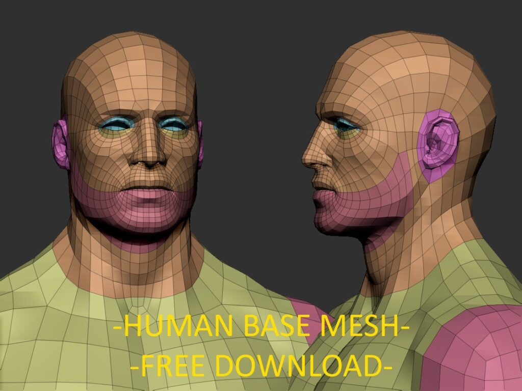 Human base mesh - Free download _ By Joaquin Cossio Human base mesh Human base mesh,Free download,Joaquin Cossio