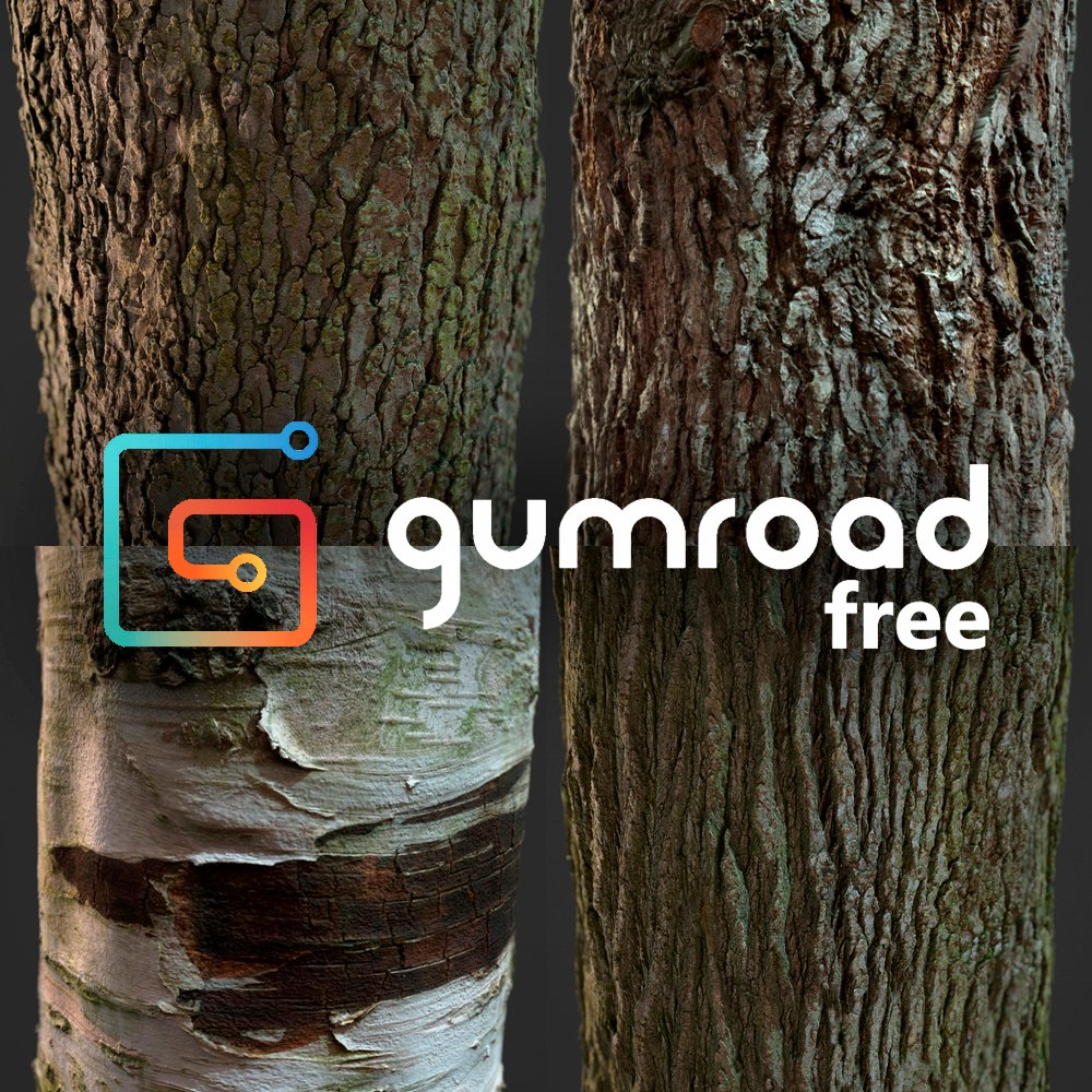Free Photogrammetry Tile Textures - Bark Pack 01 _ By amnoon Photogrammetry Photogrammetry