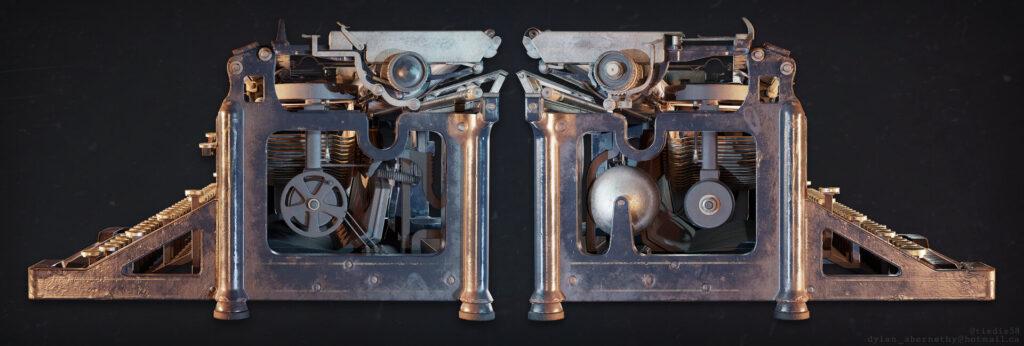 Antique Typewriter for Games and Real-Time (Free Tutorial) By Dylan Abernethy Typewriter Typewriter,Games