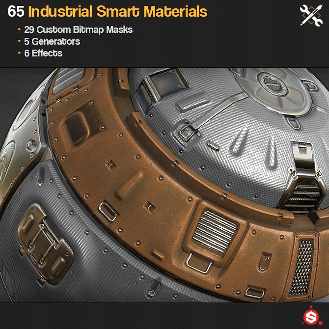 65 Industrial Smart Materials of Substance Painter _ By JRO TOOLS 65 Industrial Smart Materials 65 Industrial Smart Materials,JRO TOOLS