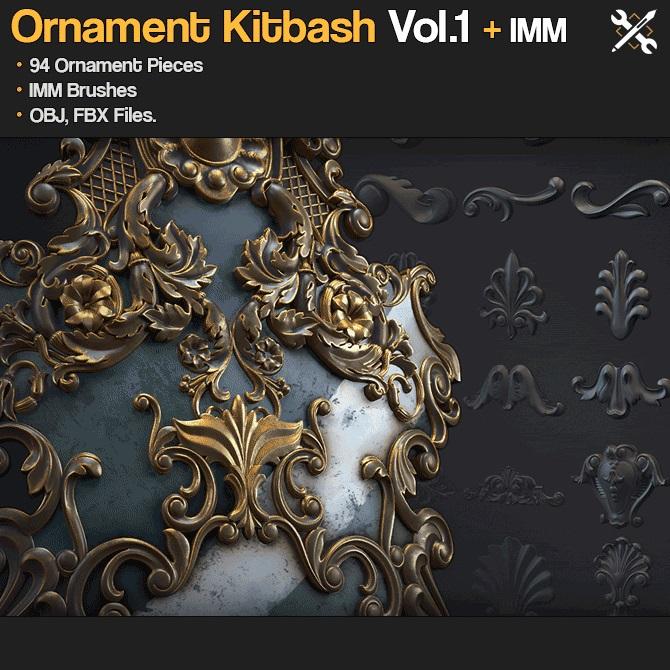 Ornament Kitbash Vol.1 _By JROTools Ornament Ornament,JROTools