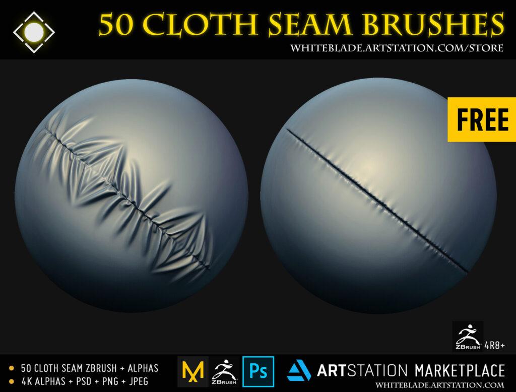 Cloth Seam free Zbrush Brushes_ Muhammad Sohail Anwar CLOTH CLOTH