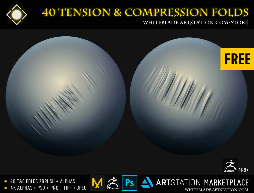 40 Tension & Compression Fold Free Zbrushes Brushes _ By Muhammad Sohail Anwar Tension Tension,Zbrushes