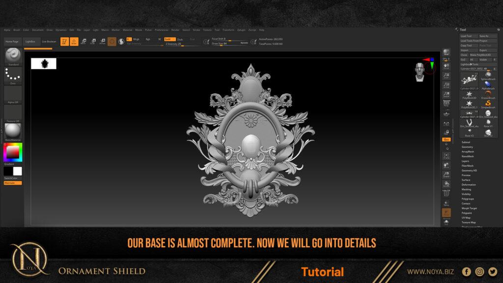 How to model a shield in zbrush _ By Noya shield shield